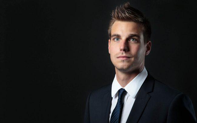 Bewerbungsfotos Mann mit Anzug