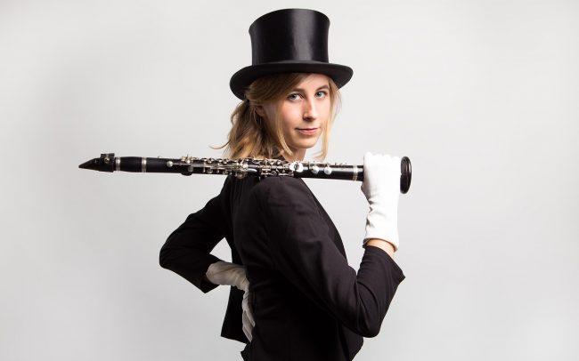 Klarinettistin Künstlerfotos